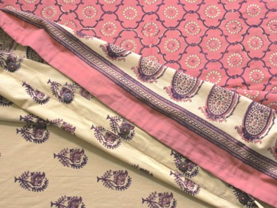 pink and purple indian duvet