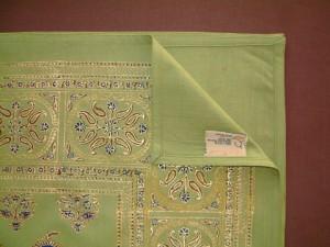 Asian Oriental Green Queen Size Bedspread