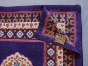Purple Blue Moroccan Vintage Queen Bedspread