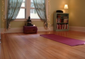 home yoga studio decor