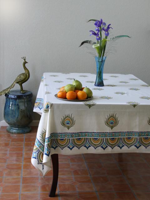 Dance O Peacock tablecloth