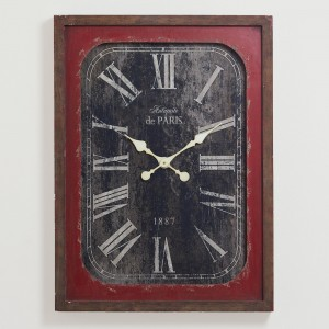 Red Victoria Vintage Wall Clock - World Market