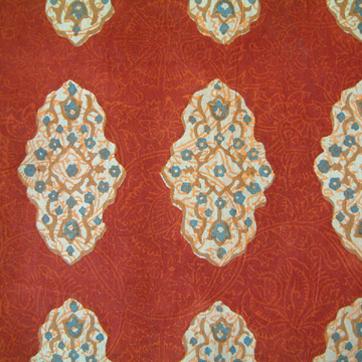 Spice Route ~ Rust Red Bedding, Curtains & Table Linens