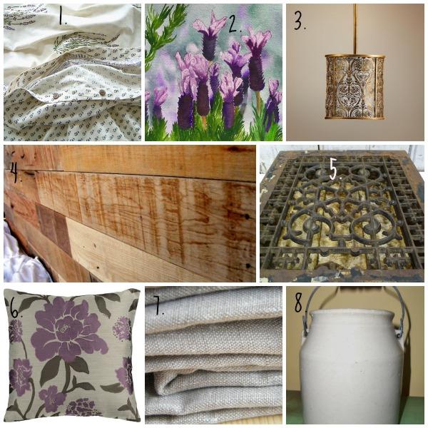 Spring Inspiration Board - Lavender inspired bedroom