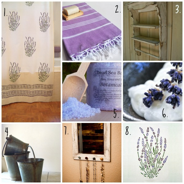 Spring Inspiration Board - French inspired lavender bath