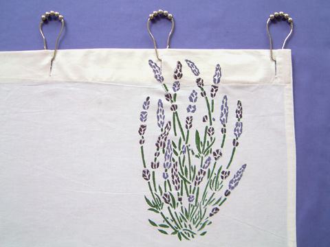 Lavender Dreams shower curtain detail