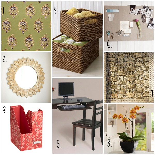 Spring Inspiration Board - The Tranquil Home Office