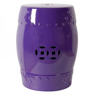Purple Ceramic Garden Stool, Amazon