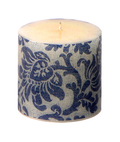 Blue Damask Pillar - Image Glow