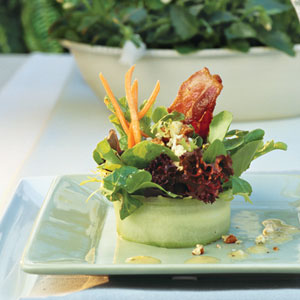 Bacon Blue Cheese Salad with White Wine Vinaigrette - My Recipes