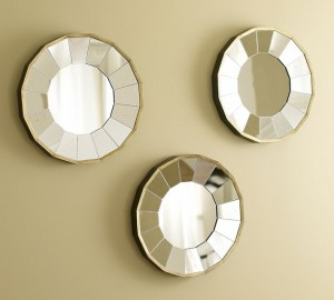 Rhone round gilt mirrors, Pottery Barn