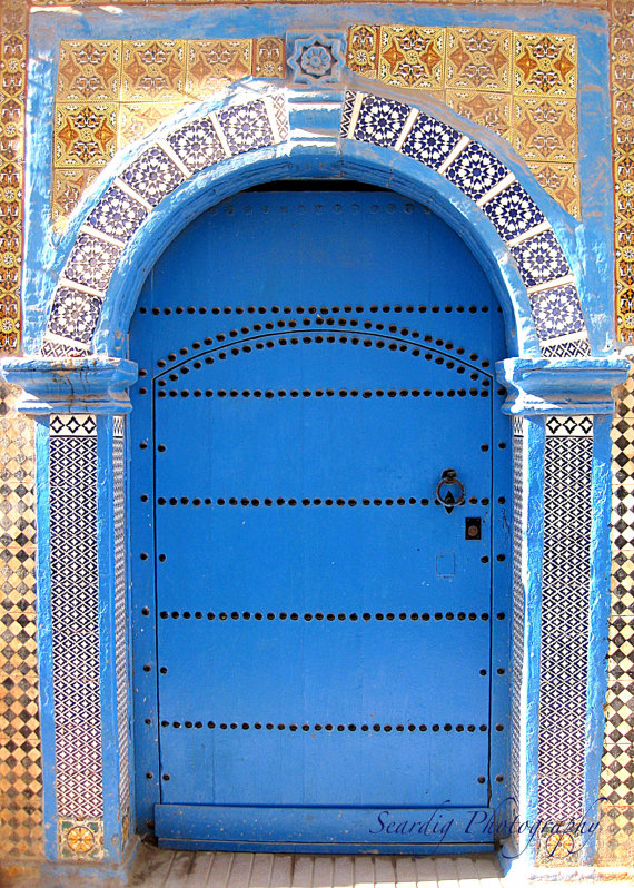 Moroccan Blue Door - Seardig Photography