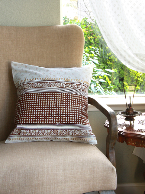 Nizam's Pearls throw pillows