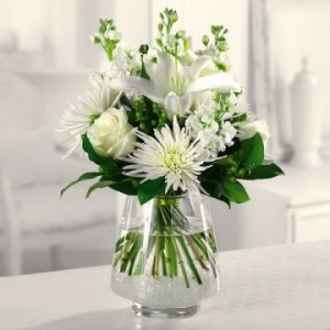 Casa Blanca Lilies, White Spider Mum & Green Hypericum Berries - Wedding and Reception Ideas