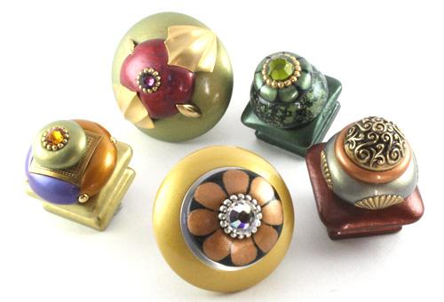 Cabinet knobs, Susan Goldstick