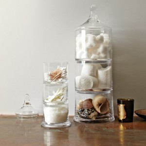 Stacked Apothecary Jars, West Elm