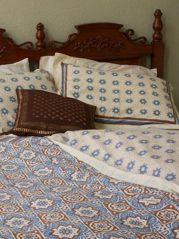 Blue Brown Duvet cover