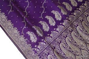 Purple Benarasi silk sari, via Ebay
