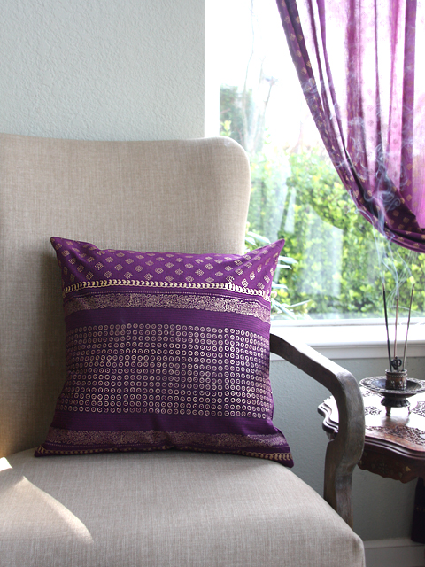 Mystic Amethyst throw pillow