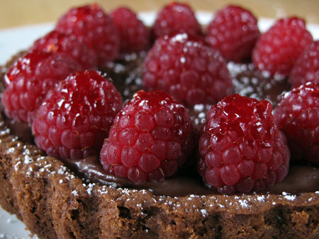 Chocolate Raspberry Tart - Eating Richly