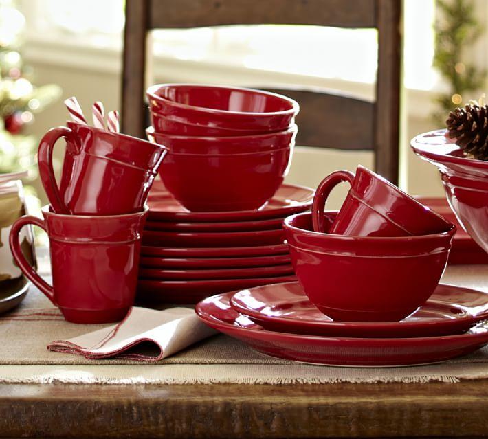 Cambria Dinnerware in Red - Pottery Barn