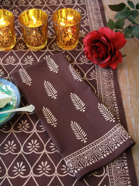 For the Love of Chocolate Napkins - Saffron Marigold