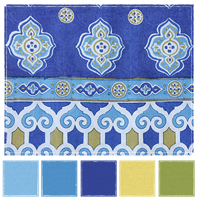 Casablanca Blues Swatch
