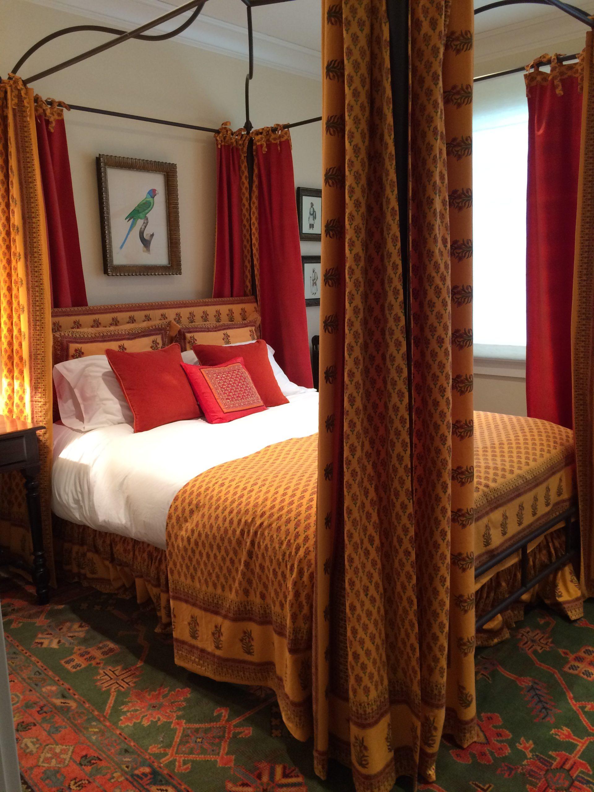 orange bedroom decor and orange bedding