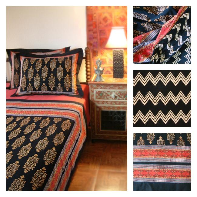 Kilim Noir Duvet or Bedspread