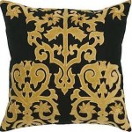 Gold and Black Pillow - HomeTexco