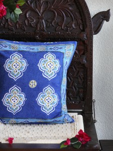 Casablanca Blues throw pillow