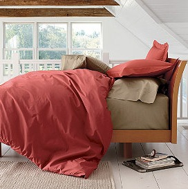 Percale sheets, Chili, The Company Store