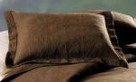 Chocolate brown matelasse shams, Atlantic Linens