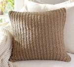 Woven jute pillow cover, Pottery Barn