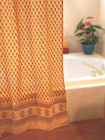 Yellow and Blue Curtains Offer A Fresh Look at Timeless Moroccan ...