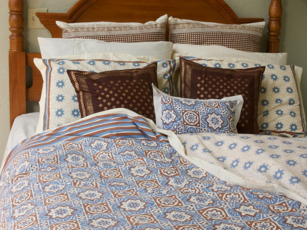 An ornate look with Ocean Breezes bed linens