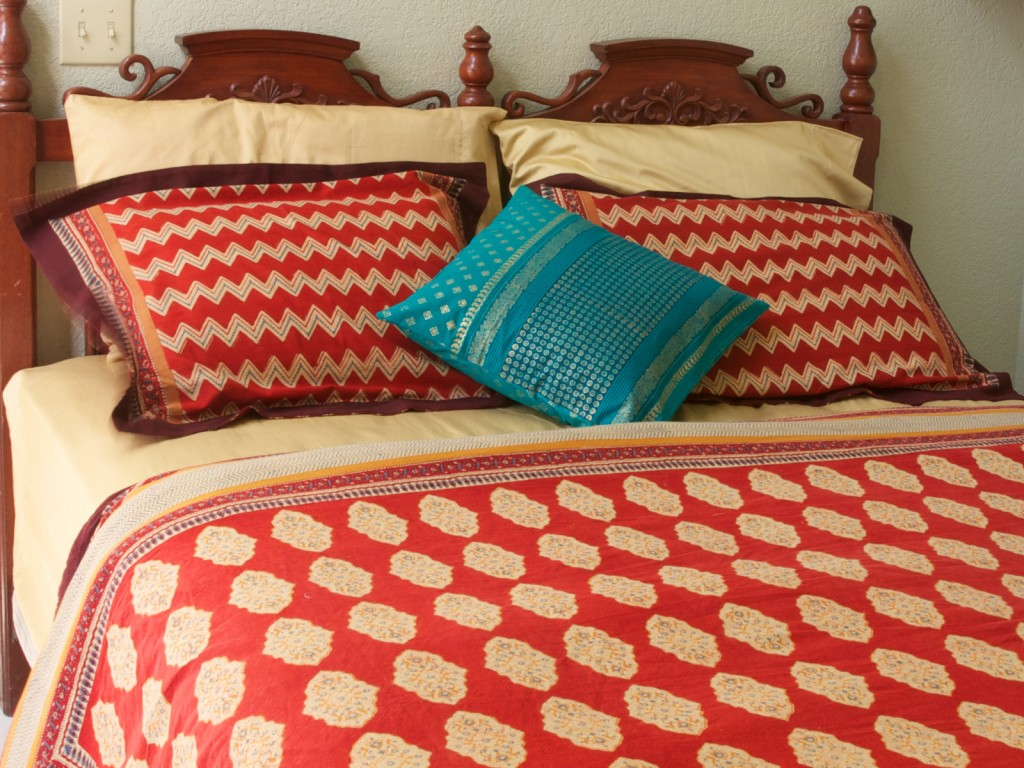 A simple look with Spice Route Bed linens