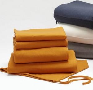Coyuchi sheets, Tangerine, Bambeco