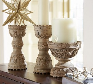 Wood pillars