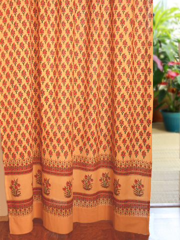 Indian Summer Sheer Cotton Curtain