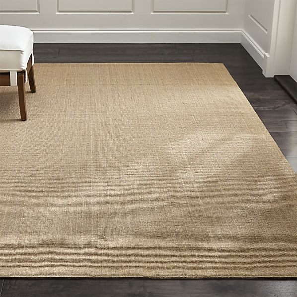 sisal rug crate and barrel