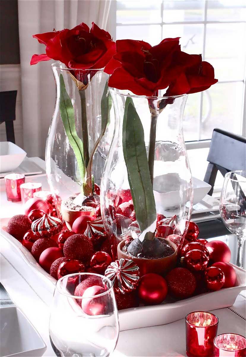Christmas Flower Decorations Ideas.Inspiring Creative Ideas For A Christmas Centerpieces