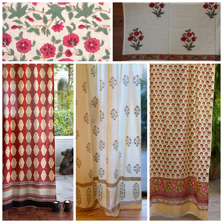 Roses in the Snow valance, and curtain ideas