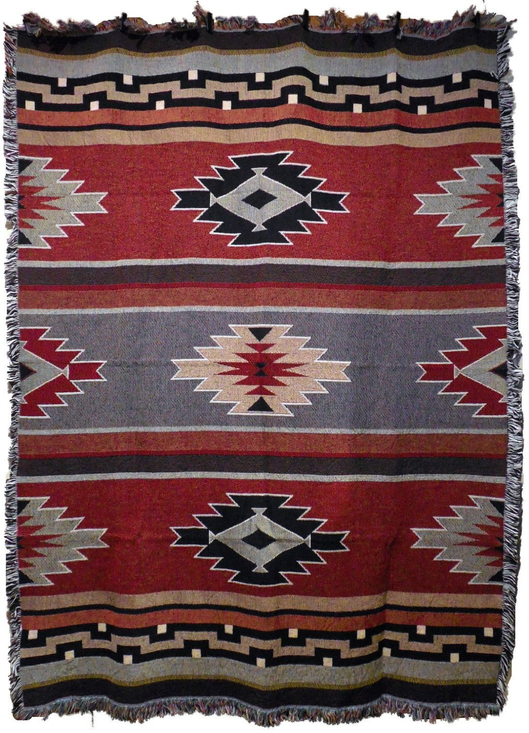 southwest sampler red and green throw amazon