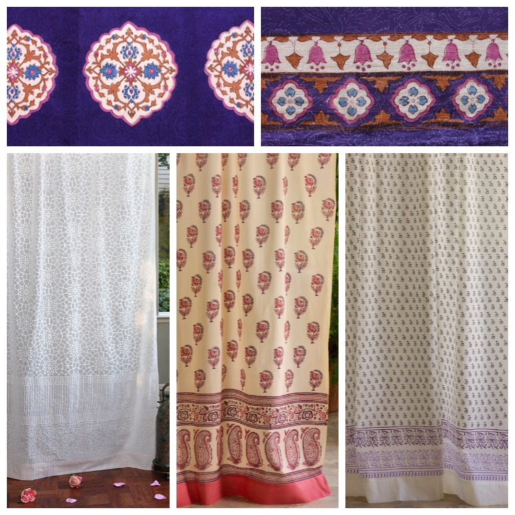 Sultans Palace valance paired with curtains