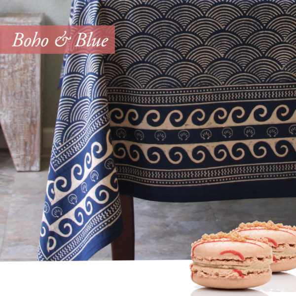 blue asian inspired tablecloth, valentines day ideas