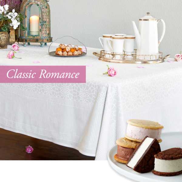 valentines day ideas with our white moroccan tablecloth