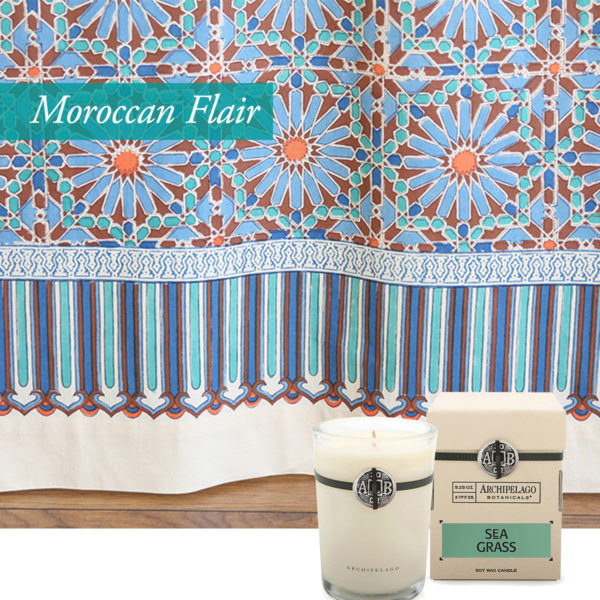 valentines day ideas with moroccan flair, zelige tile inspired shower curtain