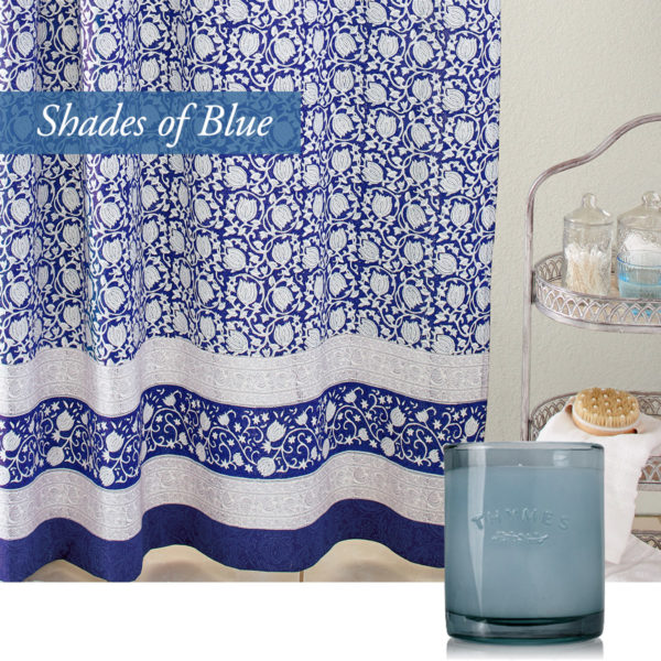 valentines day ideas with our asian inspired white blue shower curtain