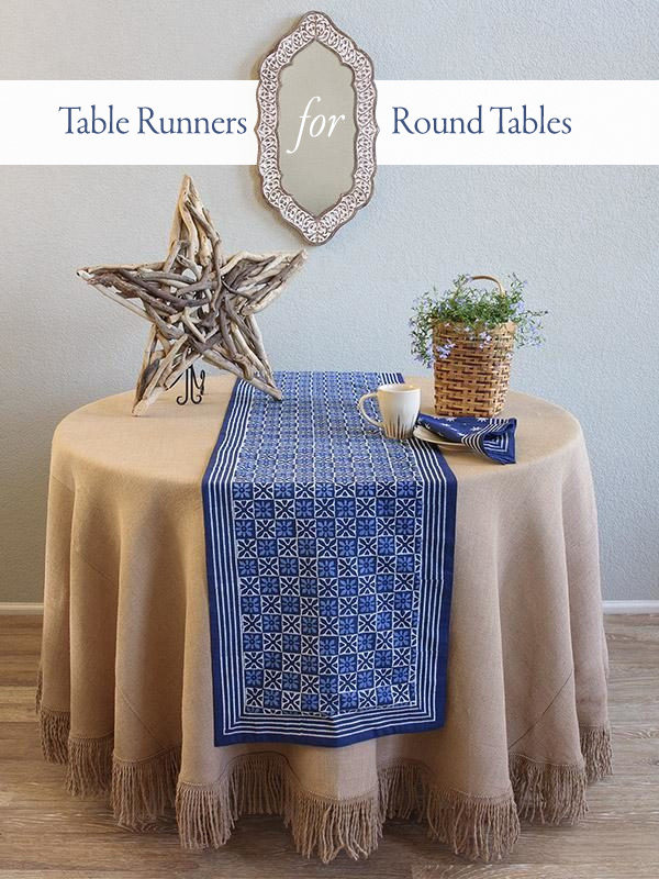 Table Runners For Round Tables Find, Runner On Round Table